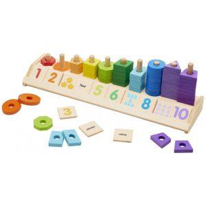 Joc din lemn Sorteaza si numara-0