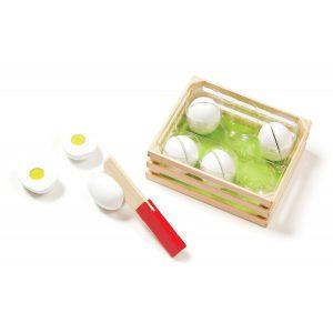 Joc de sortat din lemn Eggs Melissa and Doug-0