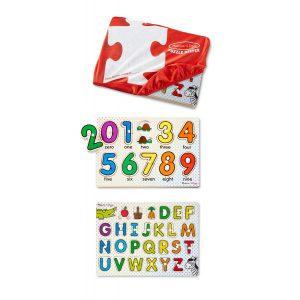Set 2 puzzle lemn in husa Litere si Numere-0