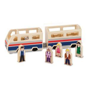 Set de joaca din lemn Tren cu pasageri-0