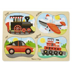 Puzzle lemn 4 in 1 Vehicule-0