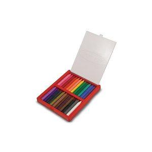 Melissa & Doug - Set 24 creioane colorate triunghiulare-0