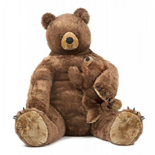 Urs brun cu pui din plus Melissa and Doug-0