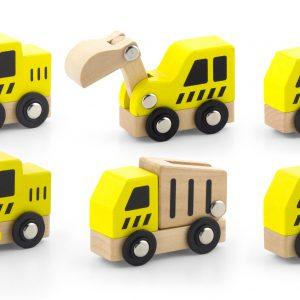 Set de 6 mini autovehicule de constructie-0