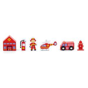 Accesorii trenulet - statie de pompieri-0