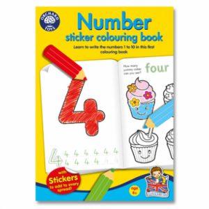 Carte de colorat - Numerele-0