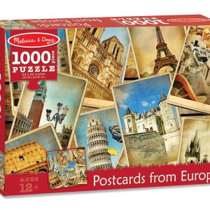 Puzzle Vederi din Europa - Melissa and Doug-0