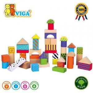 Set cu 50 de cuburi colorate-0