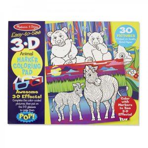 Caiet de colorat 3D Animale-0