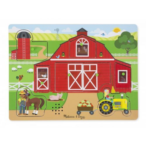 Puzzle sonor Ferma Animalelor - Melissa and Doug-0