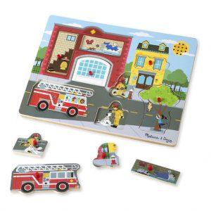 Puzzle cu sunete Brigada de pompieri Melissa and Doug-2621