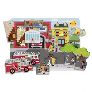 Puzzle cu sunete Brigada de pompieri Melissa and Doug-2622