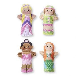 Set 4 papusi de mana Printese Melissa and Doug-0