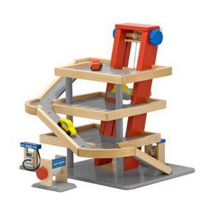 Parcare etajata din lemn cu masinute Melissa and Doug-2660