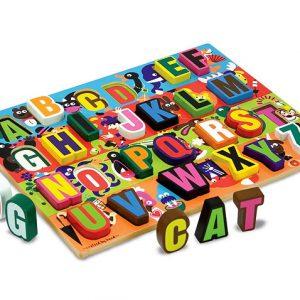 Melissa & Doug - Puzzle lemn in relief Litere-2582