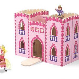 Melissa & Doug - Castel din lemn pliabil-0