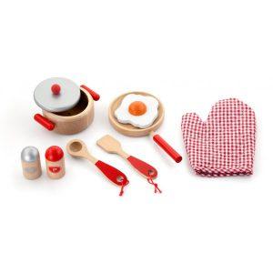 Set accesorii rosii pentru bucatarie-0