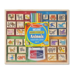 Set stampile din lemn Animale Deluxe-0