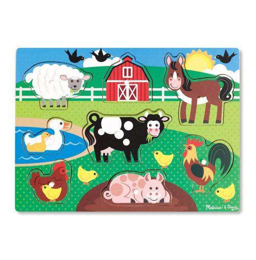 Puzzle din lemn Ferma Animalelor-0