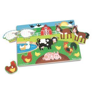 Puzzle din lemn Ferma Animalelor-2713