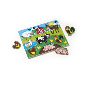 Puzzle din lemn Ferma Animalelor-2715
