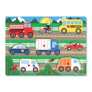 Puzzle din lemn Vehicule cunoscute-0