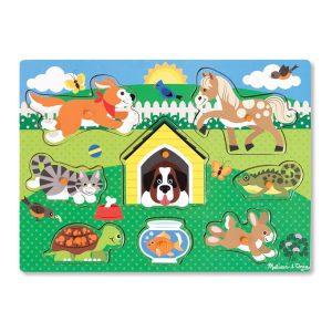 Puzzle din lemn Animalele de companie-0