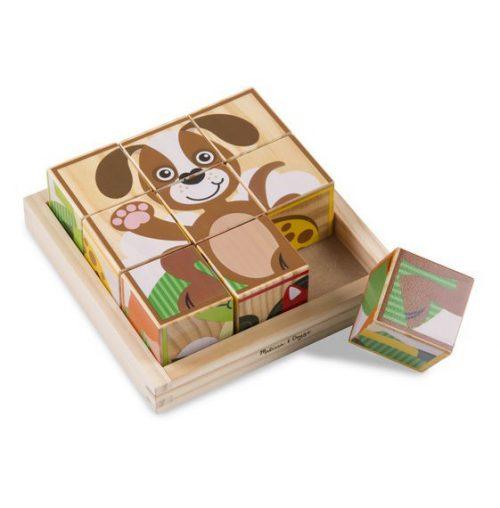 Primele mele cuburi puzzle cu animale-0
