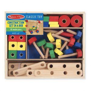Set din lemn de construit cu suruburi-0