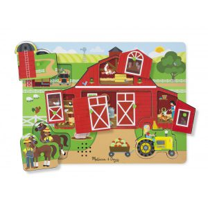 Puzzle sonor Ferma - Melissa and Doug-0