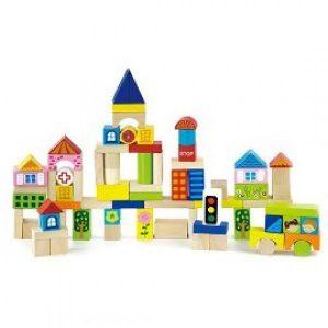 Orasul - Set de construit cu 75 cuburi-0