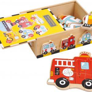 Cutia cu puzzle-uri - vehicule-0