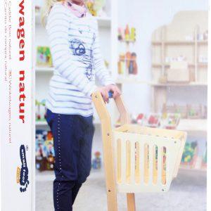 Carucior cumparaturi din lemn-2860