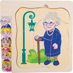 Puzzle - etape din viata bunicii mele-0