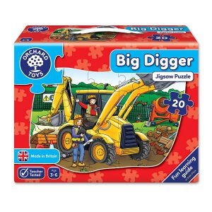 Puzzle de podea - Masina Excavator-0