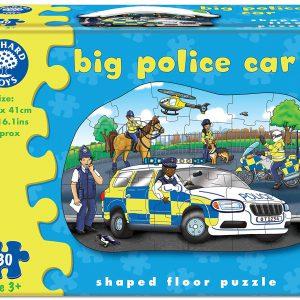 Puzzle de podea - masina de politie-0