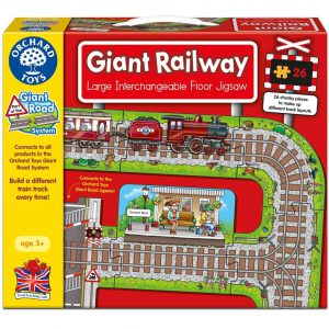 Puzzle gigant de podea - Calea ferata - 26 piese-0