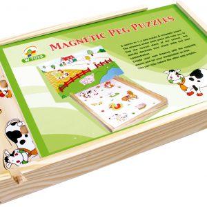 Puzzle magnetic din lemn - La ferma -2971