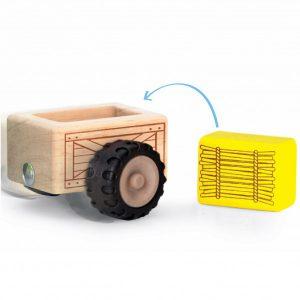 Tractor din lemn-3037