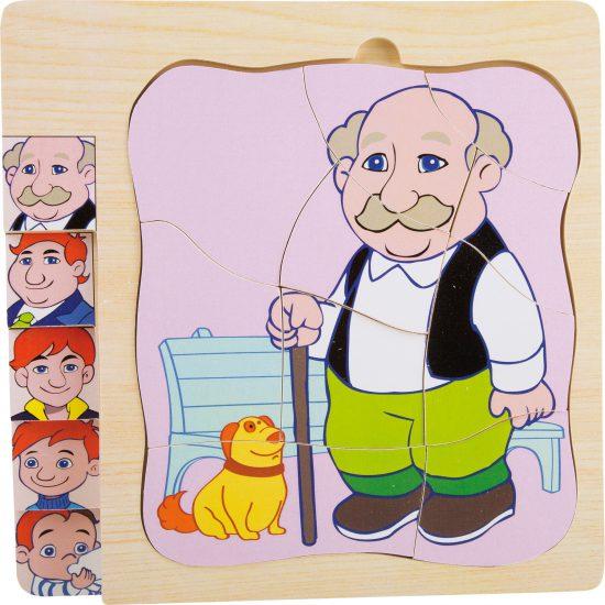 Puzzle - etape din viata bunicului meu-0