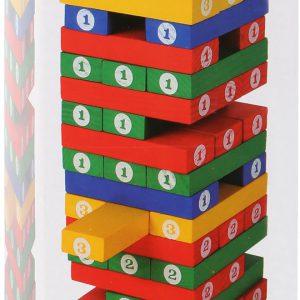 Joc Turnul instabil din lemn colorat-3090