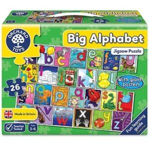 Puzzle de podea in limba engleza Invata alfabetul (26 piese - poster inclus) BIG ALPHABET JIGSAW