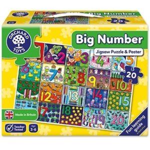 Puzzle de podea Invatam sa numaram (30 piese - poster inclus) ONE TWO THREE