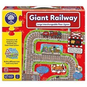 Puzzle gigant de podea Cale ferata (26 piese) GIANT RAILWAY